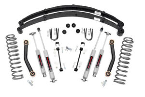 Jeep Cherokee Xj 4 5 Suspension Lift Kit W Full Leaf Packs 1984 2001