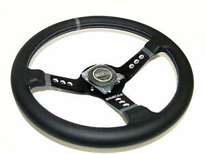 Sparco Steering Wheel L777 350mm 63mm Dish leather