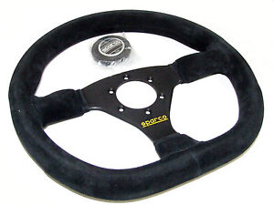 Sparco Steering Wheel L360 Ring 330mm Flat Flat Bottom Suede