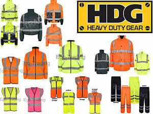High Viz Safety Reflective Waterproof Work Wear Warm Padded Jackets Vests Pant