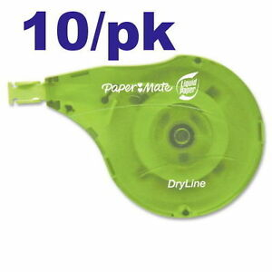 Paper Mate Liquid Paper Dryline Correction Tape 1 6 X 472 10 pack Pap6137406