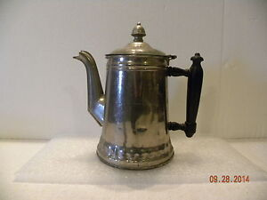 Antique Rochester Nickle Plated Coffee Pot