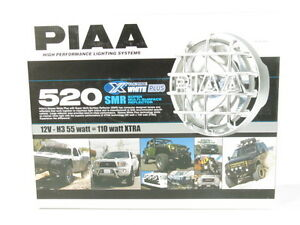 Piaa 520 Series Smr Xtreme White Plus Halogen Driving Lamp Kit Fog Lights 5264