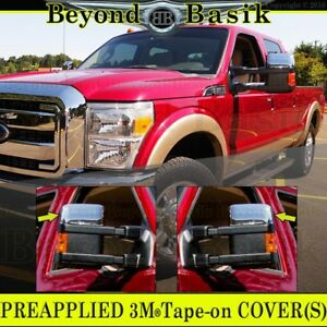 Chrome Mirror Covers 2008 2016 Ford F250 F350 Superduty Towing Top Half Overlays