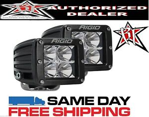 Rigid Industries Dually 20211 Flood Pair 2 Led Lights Offroad Atv Utv Motorcycle