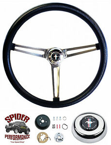 1965 1969 Mustang Steering Wheel Pony 15 Muscle Car Stainless Steering Wheel