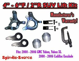 00 06 Chevy Suburban Tahoe Avalanche 1500 4 6 Lift Kit Spindle Torsion Ext Tool