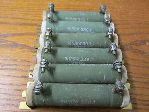 Lot Of 6 Jrm Gh30w Tube Resistor 33 Ohms