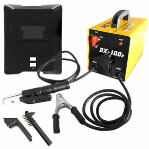 100 Amp Ac Arc Rod Stick Welder 110 220v Welding Machine Set