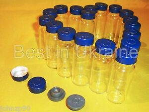 10ml Clear Glass Vials With Stopper Aluminum Seals 100 New Empty Choose Qty