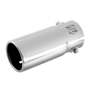 Round Car Chrome Exhaust Tail Muffler Tip Fit Pipe Diameter From 1 1 4 To 2