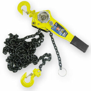 3 4 Ton Lever Block 5 Lift Chain Dia 1 4 Inch Ratcheting Come Along Puller