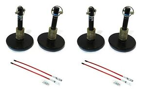 4 New Universal Snow Plow Shoe Skid Foot Assemblies W Blade Markers Snowblade