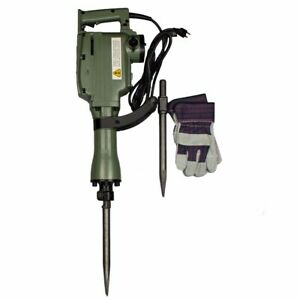 Electric Jack Hammer 1240w Demolition Concrete Breaker W 2 Heavy Duty Chisel