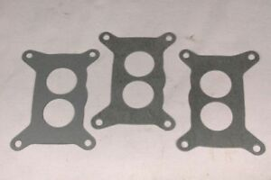 1969 71 Six Pack Holley 2 Barrel Carb To Intake Gasket Set Mopar 3 Pc New