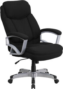 500 Lbs Capacity Big Tall Black Fabric Executive Office Chair