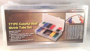 Heat Shrink Tube Assortment 171pc Set