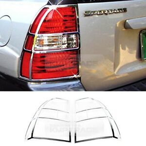 Chrome Rear Tail Light Lamp Molding Cover K 552 For Kia 2005 2008 Sportage