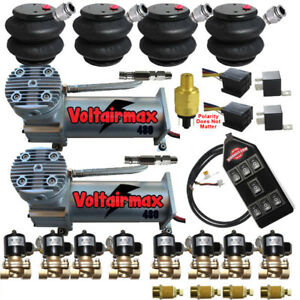 Voltairmaxxx 480c Compressors 1 2 Valves Air Ride 2600 Bags 7 Switch Controller