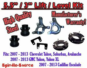07 13 Chevy Tahoe Gmc Yukon 1500 Suv 5 5 3 Full Lift Kit 2wd Spindles
