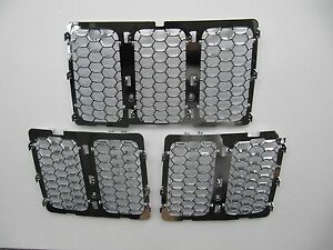 Jeep Grand Cherokee Upper Grille Insert Honeycomb Mesh Fully Chrome Wk14 2014