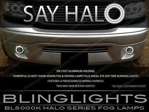 Ford F 150 White Halo Angel Eye Fog Lamp Driving Light Kit With Switch