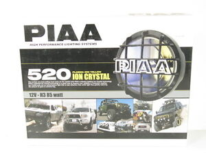 Piaa 520 Series Plasma Ion Yellow Halogen Round Driving Lamp Kit Fog Lights 5293