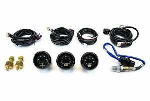 Aem 3 Gauges Combo 52mm Set Uego Wideband A F Ratio Oil Pressure Turbo Boost