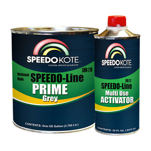 Speedokote High Build 2k Urethane Primer Gray Gallon Kit Smr 210 211 K