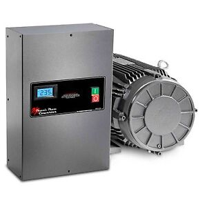 20 Hp Rotary Phase Converter Tefc Voltage Display Power Protected Gp20plv
