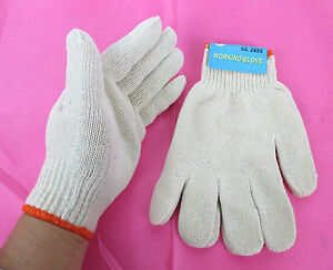 Wholesale Lot Of 8 12 36 60 120 Pair plain Cotton Work Glove One Size gl2955