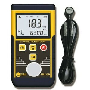 Digital Ultrasonic Wall Thickness Gauge Tester Meter Fo Metal Steel Tm130d 225mm
