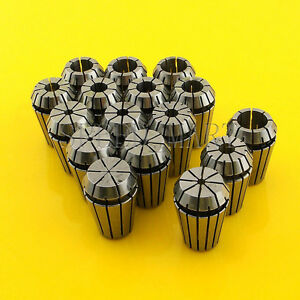 16pcs Er20 Spring Collet Chuck Tool Set Cnc 1mm 13mm 1 8 1 4 1 2