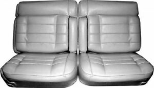 1975 76 Cadillac El Dorado 50 50 Split Bench With Dual Armrest Front Seat Cover