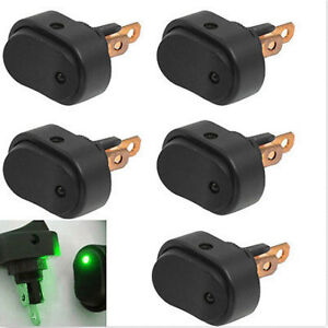 5pcs 12v 30amp 30a Heavy Duty Green Led Off on Rocker Switch Car Boat Marine