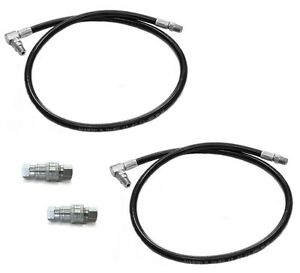 2 Snow Plow Hydraulic Pressure Hoses Quick Couplers For Meyer Diamond 21856