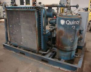 Colt Industries Quincy 350 Air Compressor W Ge Motor 75 Hp 3 Phase 18721lr