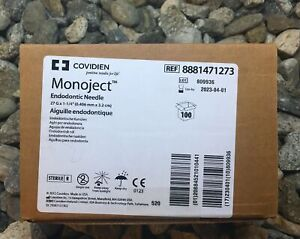 Monoject Endodontic Irrigation Needle 100 box 27g X 1 1 4 0 4mm X 31 7mm