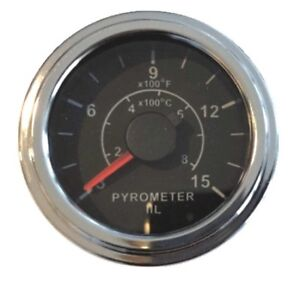 Pyrometer 0 1500f Egt Gauge 2 52mm 12 Ft 3 6m K Thermocouple Probe Chrome