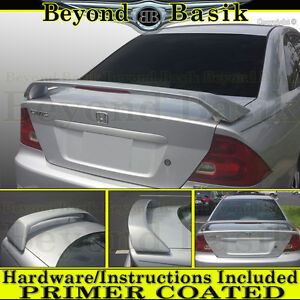 2001 2002 2003 2004 2005 Honda Civic 2d High Factory Style Spoiler W Led Primer