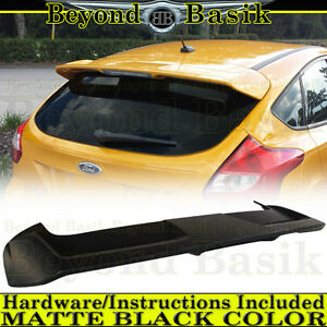 2012 2013 2014 2015 2016 2017 2018 Ford Focus H B Matte Black Spoiler Wing