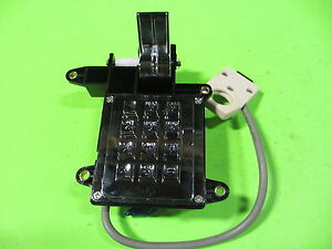 Replacement Key Pad And Hook Switch Assembly For Coin Operated Wall Phone