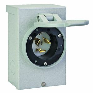 Reliance Controls Pb50 50 Amp Generator Power Cord Inlet Box For Up To 12 500 Wa