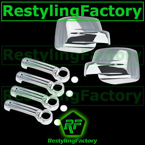 2007 2012 Dodge Nitro Triple Chrome Plated Abs Mirror 4 Door Handle Cover Combo