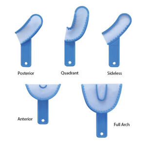 Value Pack Dental Disposable 3 In 1 Impression Tray 5 Boxes 1 Each Type