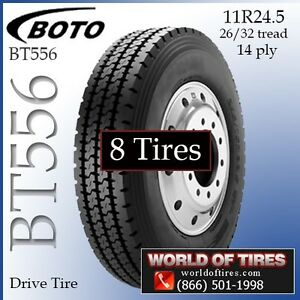 Commercial Truck Tires 11r24 5 Bt556 274 Each Set Of 8 Call To Ship