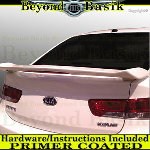 For Kia Forte Koup 2009 2010 2011 2012 2013 Custom Style Spoiler W led Primer