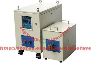 40kw 20 50khz Dual Station Super Audio Frequency Induction Heater Melter Furnace