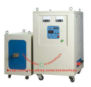 80kw 5 20khz Dual Station Mid frequency Induction Heater Melter Furnace