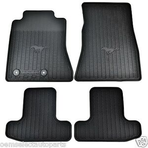 Oem New 15 19 Ford Mustang All Weather Vinyl Contour Floor Mats Fr3z6313300ba